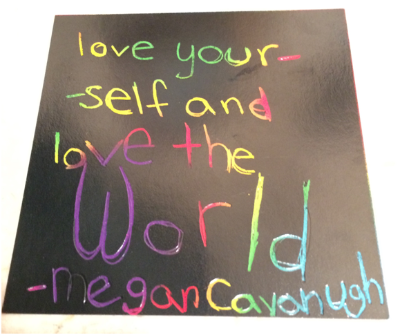 Love yourself and love the world!