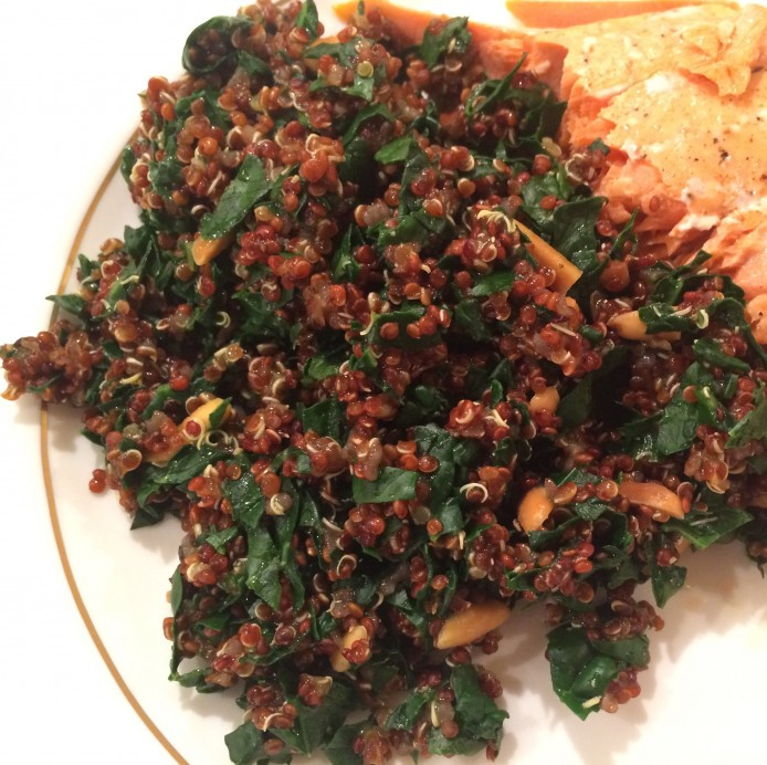 Red Quinoa with Kale